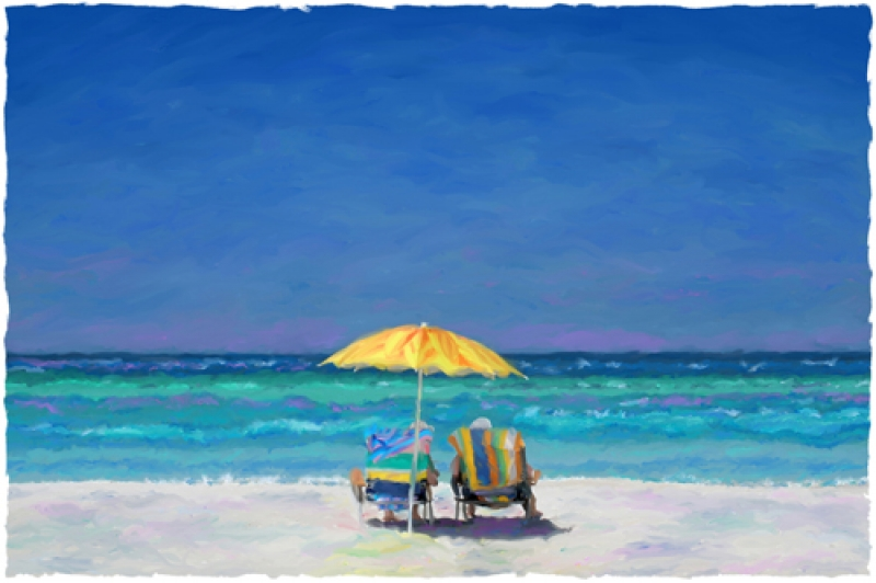 Quot Beach Chairs Quot Limited Editions Coastal Art Ron