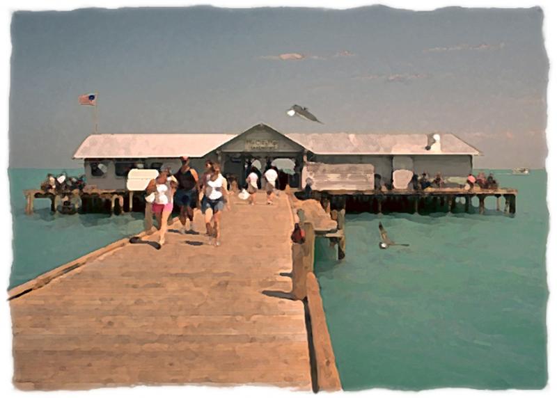 "Daytona Escape Room >> ""Bird's Eye View - Bridge Street Pier"" - Limited Editions - Anna Maria Island, Florida - Ron ..."