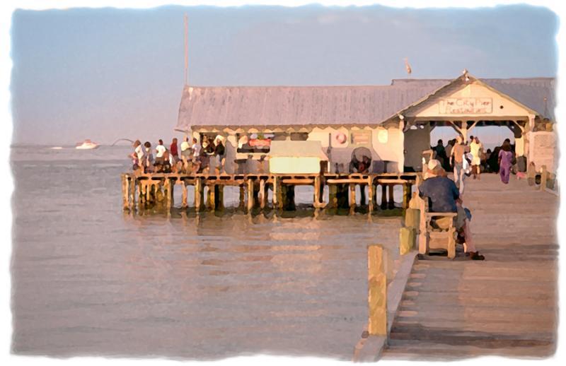 Bird 39 s eye view bridge street pier limited editions for Anna maria island fishing pier